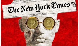 Illustration on the Pulitzer Prizes by Alexander Hunter/The Washington Times