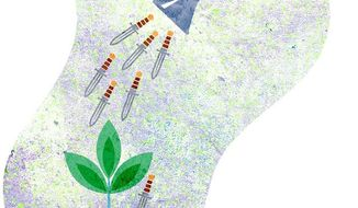 Water Can Daggers Illustration by Greg Groesch/The Washington Times