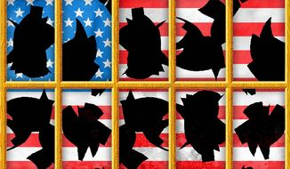 American Windows RIoters and Looters Illustration by Greg Groesch/The Washington Times