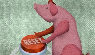 Reset Pig Illustration by Greg Groesch/The Washington Times