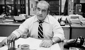 """Ed Asner made a quick transition from """"The Mary Tyler Moore Show"""" to city editor for the fictitious Los Angeles Tribune on """"Lou Grant."""" (Associated Press)"""
