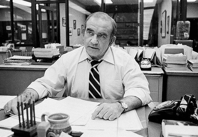 """Ed Asner made a quick transition from """"The Mary Tyler Moore Show"""" to city editor for the fictitious Los Angeles Tribune on """"Lou Grant."""""""