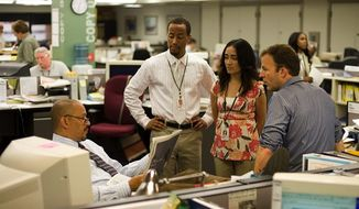 "** FILE ** Footage from HBO's ""The Wire"" shows a scene from the show's final season, which interprets life at the Baltimore Sun newspaper."