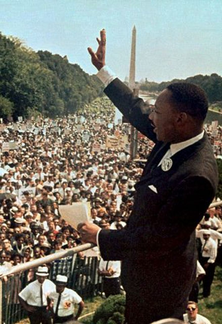 """Martin Luther King, who delivered his """"I Have a Dream Speech"""" in the District in 1963, will be honored locally with lectures, concerts and other events. (Associated Press)"""