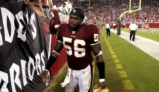 LaVar Arrington (Peter Lockley/The Washington Times) **FILE**