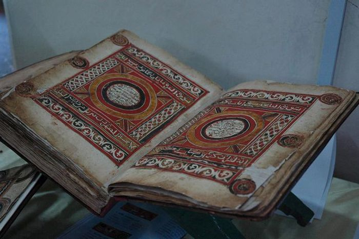 An antique handwritten Koran is displayed inside the museum in Harar, Ethiopia, named a UNESCO World Heritage site in 2006. ** FILE **