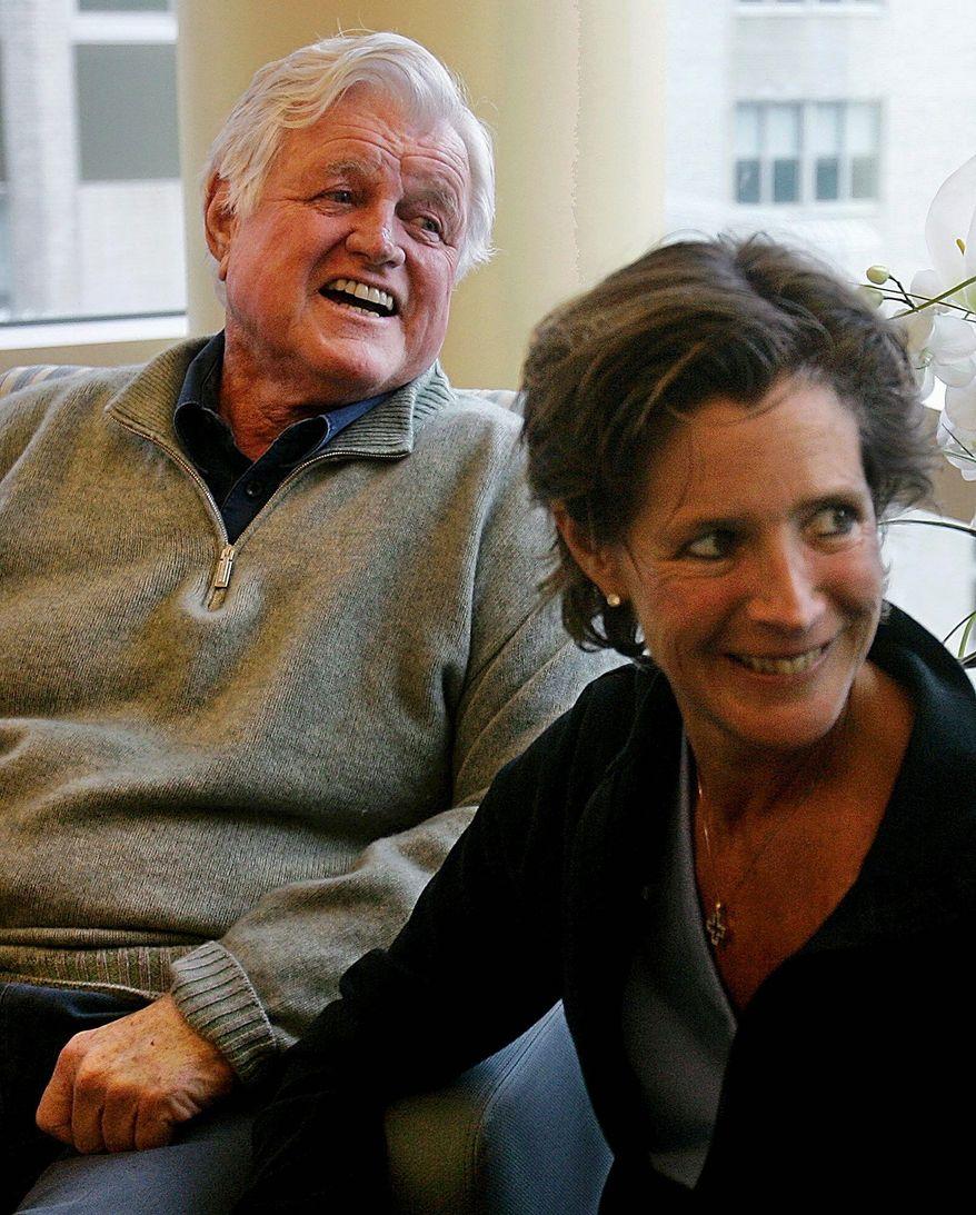 ** FILE ** Sen. Edward M. Kennedy with his daughter Kara Kennedy. (Associated Press)