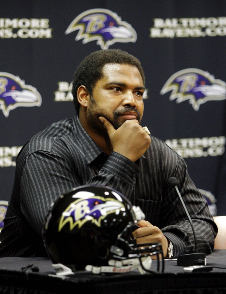 **FILE** Jonathan Ogden retired after a 12-year career with the Ravens. (Associated Press)