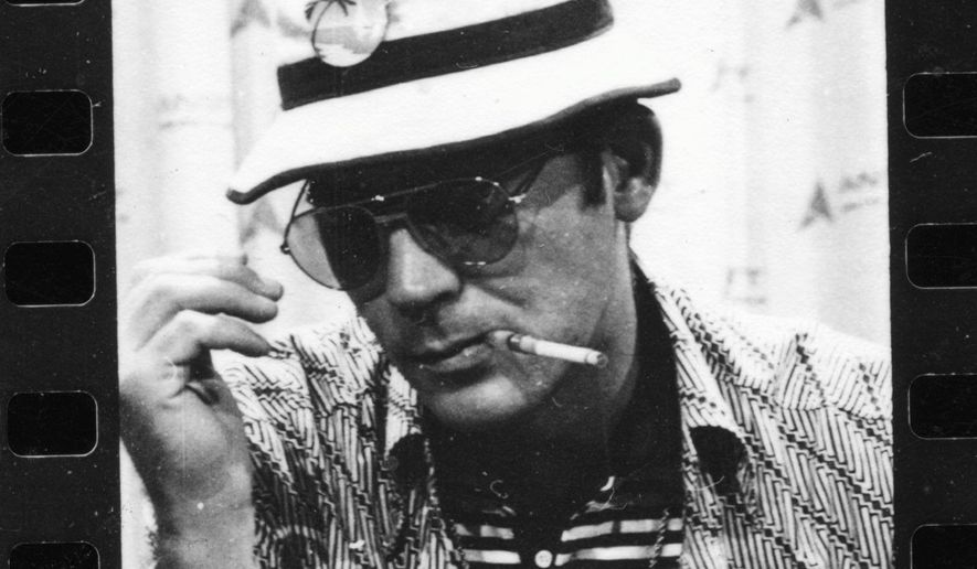 Hunter S. Thompson, founder of the gonzo journalism movement.