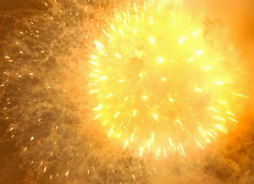 ** FILE ** Fireworks explode over the Washington Monument in Washington, D.C., Friday, July 4, 2008.