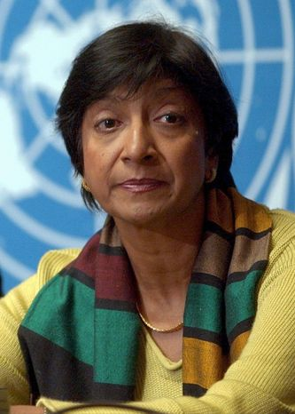 "Navanethem ""Navi"" Pillay, U.N. high commissioner for human rights"