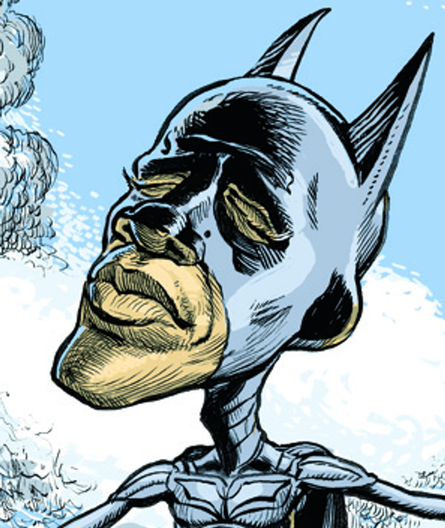 Batman Obama by Alexander Hunter for The Washington Times