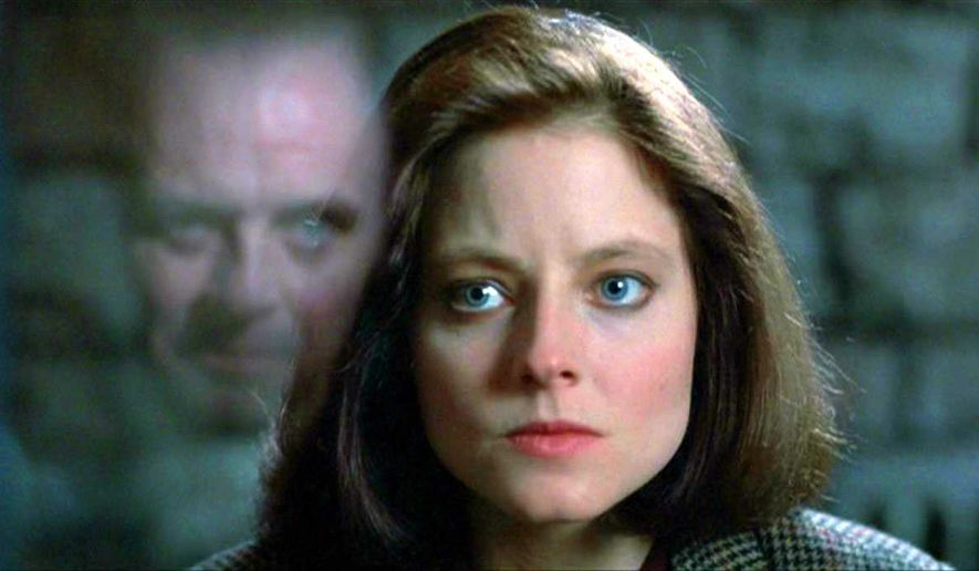 "FBI Trainee Clarice Starling (Jodie Foster) encounters Hannibal ""The Cannibal"" Lecter (Anthony Hopkins) in 1991's ""Silence of the Lambs."" (Image: Promotional trailer, ""Silence of the Lambs"")"