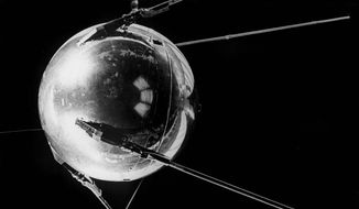 As the Soviet satellite Sputnik orbited the Earth in 1957, it launched a U.S. call for science education. (Agence France-Presse/Getty Images)