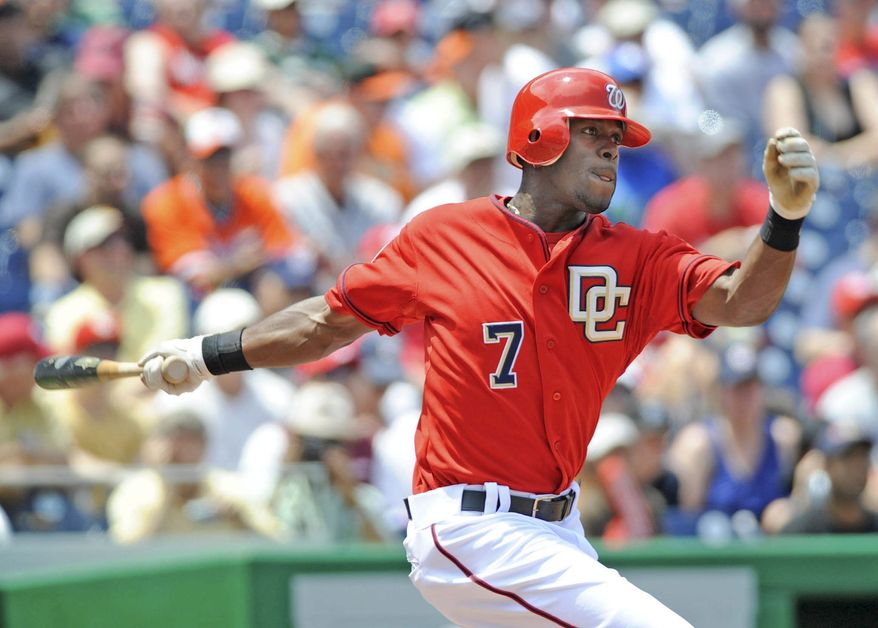 Washington Nationals' outfielder will continue to see playing time when Rick Ankiel returns from the disabled list. (Joseph Silverman / The Washington Times)