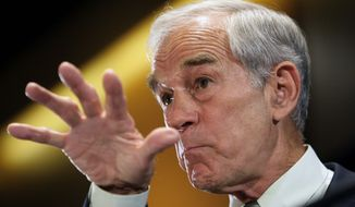 Former Republican congressman Ron Paul of Texas. (Associated Press) ** FILE **
