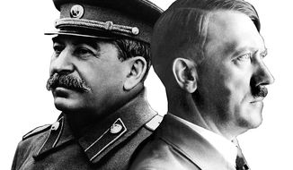Josef Stalin and Adolph Hitler