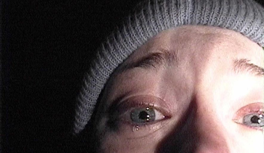 """Heather Donahue turns the camera on herself in her confession scene in """"The Blair Witch Project."""""""