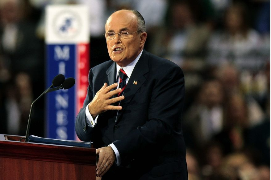 GETTY IMAGES Former New York Mayor Rudolph W. Giuliani says a proposal to allow unions to organize by collecting workers' signatures rather than through secret ballots would leave workers vulnerable to intimidation.