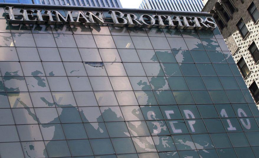 ** FILE ** Lehman Brothers' New York headquarters (Associated Press)