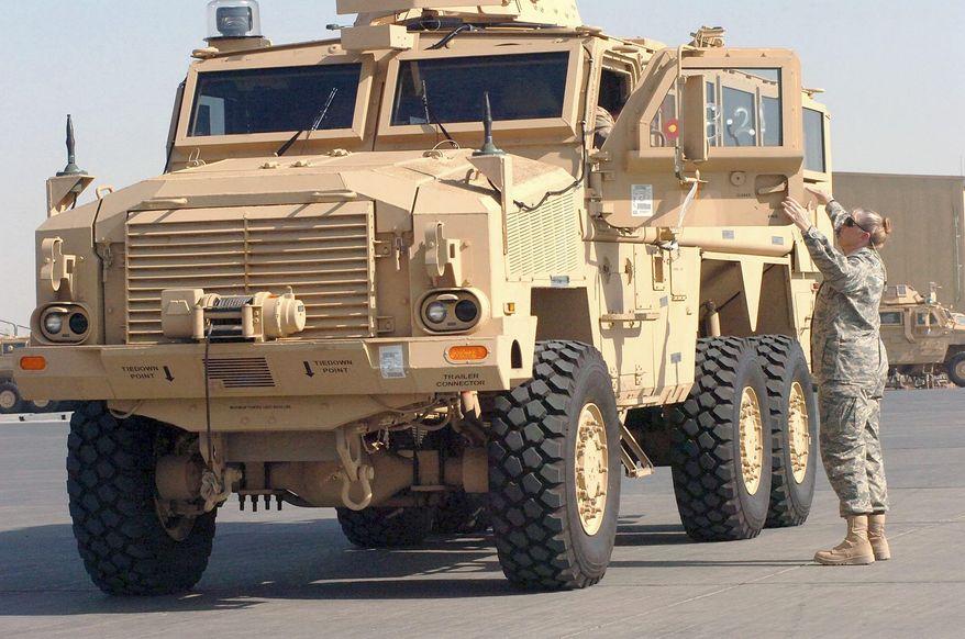 Mine resistant ambush protected (MRAP) vehicle