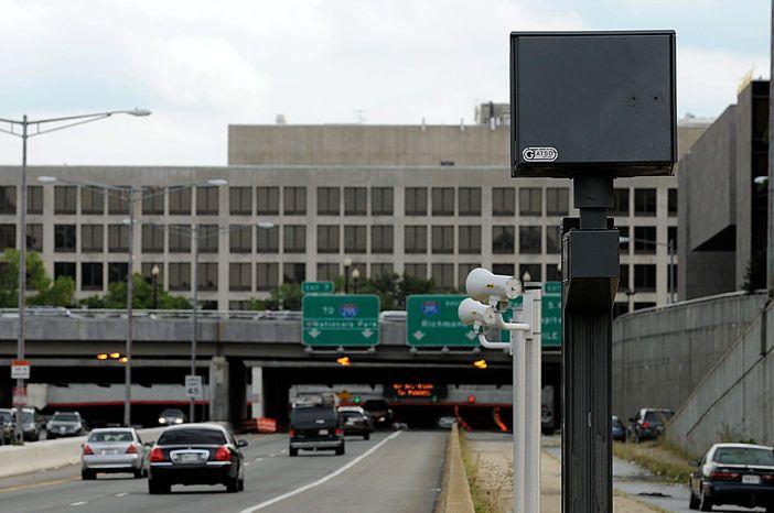 A D.C.-based photo-radar camera (BARBARA L. SALISBURY/THE WASHINGTON TIMES)