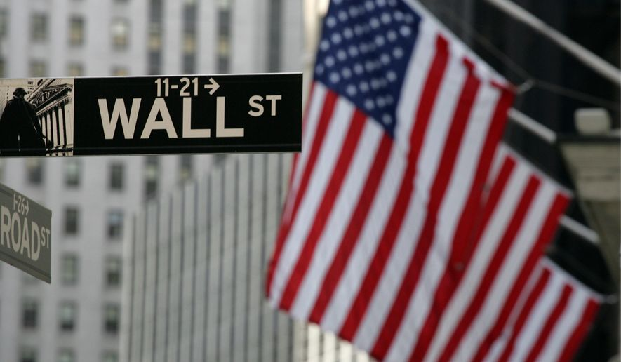 ** FILE ** A Wall Street sign is shown Wednesday, Sept. 17, 2008, in New York.