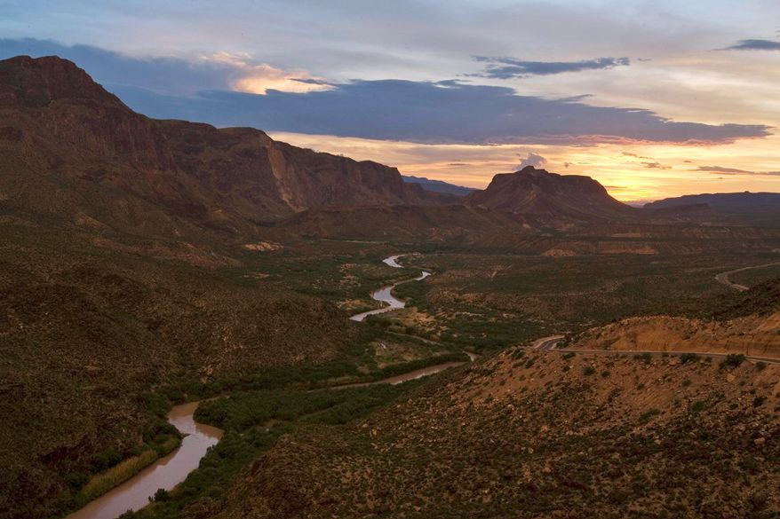 The Rio Grande forms an elbow known as the Big Bend as it flows southward from El Paso, Texas, defining the U.S.-Mexico border. As seen at Big Bend State Park, mountains form a natural barrier. Residents on both sides say they are glad not to be separated a border fence. Rusty Hill (left) owns a store in La Ruidosa, Texas. (Associated Press)