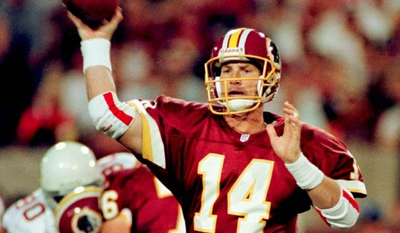 Agence France-Presse / Getty Images Brad Johnson and the 1999 Redskins had five turnover-free games.