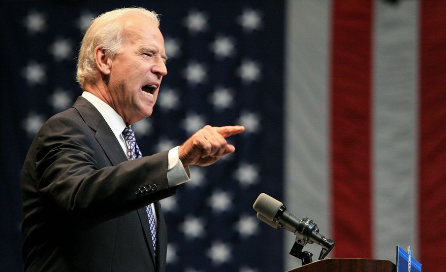 ASSOCIATED PRESS Democratic vice-presidential candidate Sen. Joseph R. Biden Jr. makes a point at the University of South Florida in Tampa, Fla.