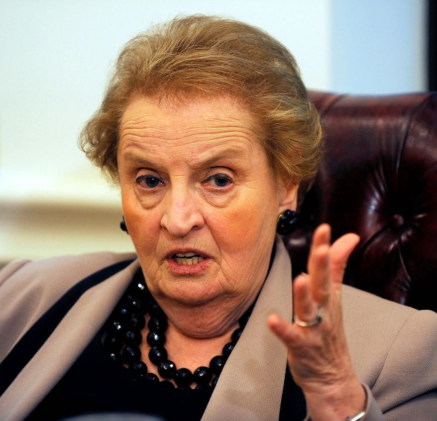 Former Secretary of State Madeleine K. Albright (The Washington Times)