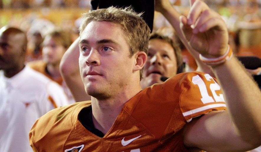 Associated Press Texas quarterback Colt McCoy is the current Heisman favorite. ** FILE **