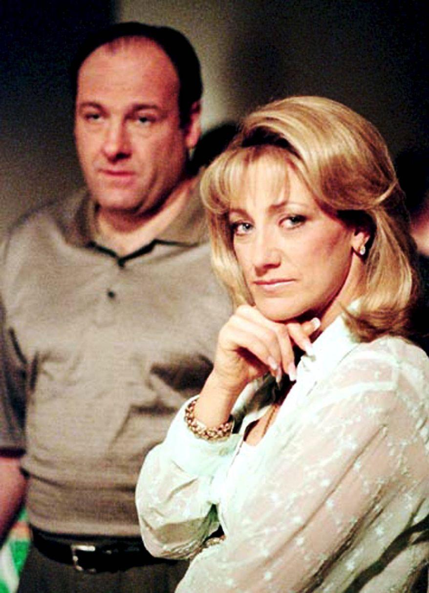 "James Gandolfini and Edie Falco of ""The Sopranos"""