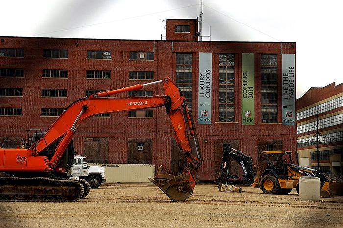 **FILE** Luxury condominiums construction near Nationals Park. (Barbara L. Salisbury/The Washington Times)