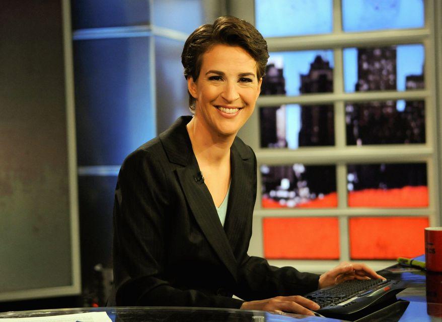 "Rachel Maddow from MSNBC's ""The Rachel Maddow Show"" (Associated Press/MSNBC, Ali Goldstein)"