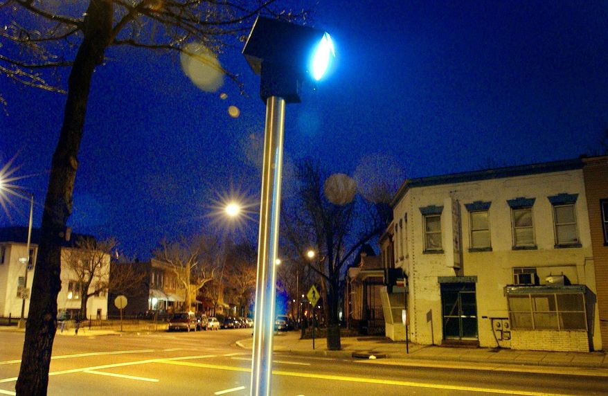 *** FILE *** A photo-radar camera on the 700 block of Florida Avenue Northeast, D.C. (The Washington Times)