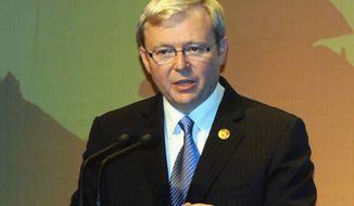 ** FILE ** Kevin Rudd (AFP/Getty Images/Sonny Tumbelaka)