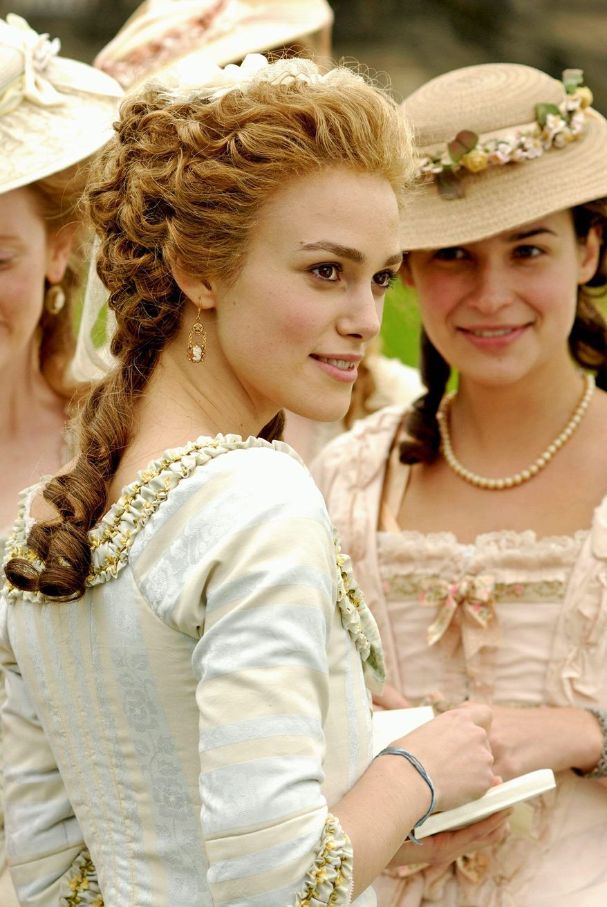 """** FILE ** In this file photo from 2008, Keira Knightley is the title character, an 18th-century aristocrat ahead of her time, in """"The Duchess."""""""