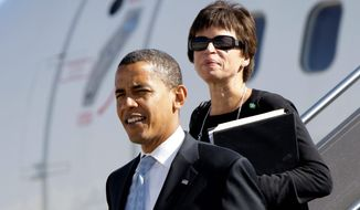 President-elect Barack Obama and senior adviser Valerie Jarrett (Associated Press)