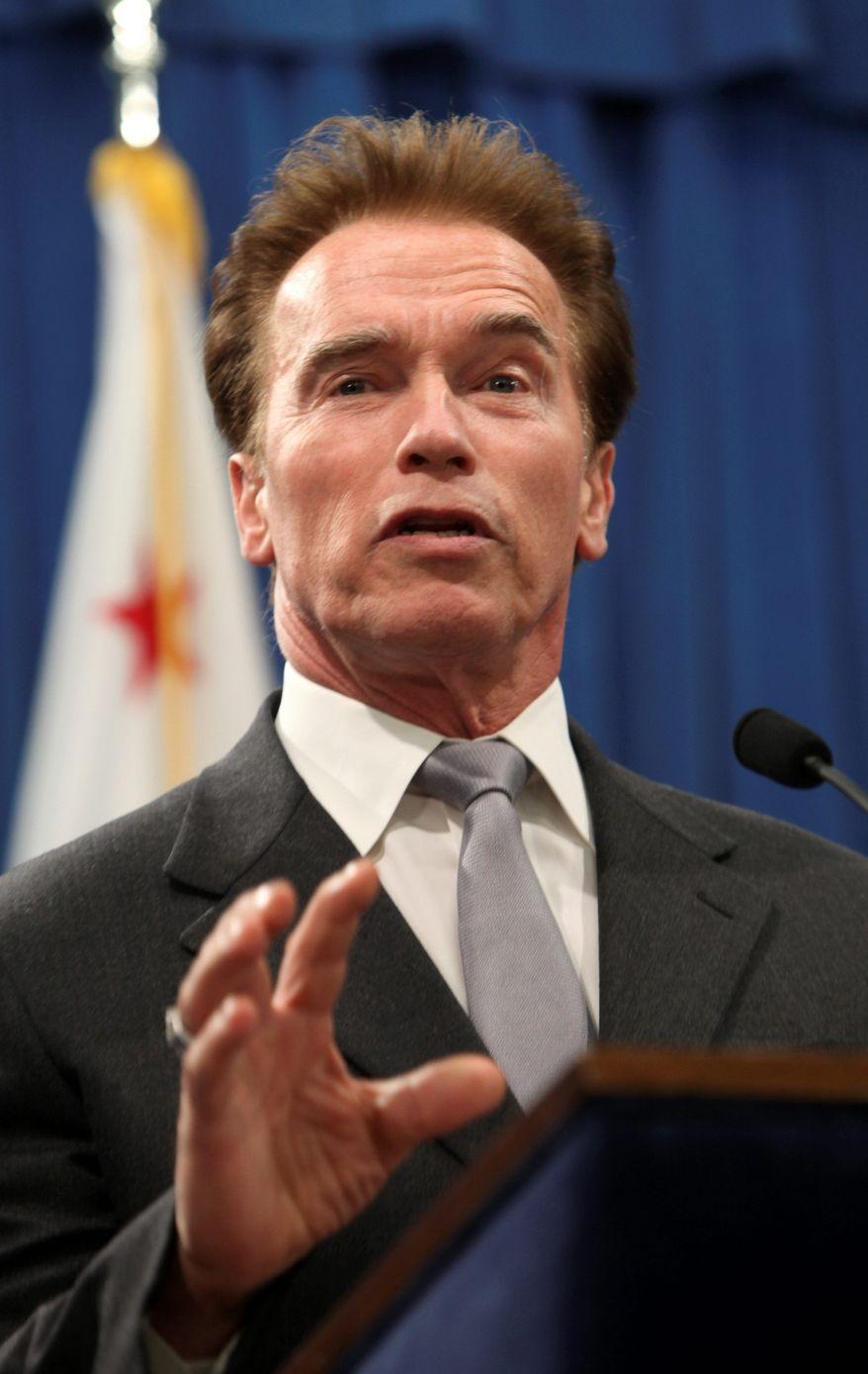 **FILE** California Gov. Arnold Schwarzenegger