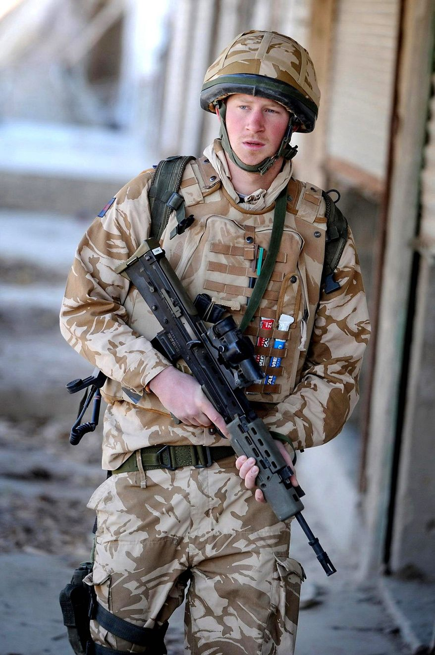 """Agence france-presse/getty images Prince Harry says of his deployment to Afghanistan that he sometimes he had to """"take a life to save a life."""""""