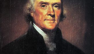 President Jefferson in 1801 delivered his State of the Union message in writing, worried that a personal appearance before Congress would too closely resemble the British monarch's practice of addressing each new Parliament with a list of policy mandates. (AP Photo/FILE)