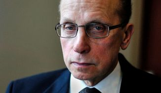 Jim R. Fouts, the mayor of Warren, Mich., the largest suburb of Detroit. (John Tully/Special to the Washington Times)
