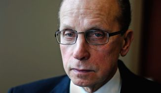 """**FILE** Jim R. Fouts, the mayor of Warren, Mich., Detroit's largest suburb and home to more than 30,000 auto workers and thousands more retirees, says the nation must do some patriotic purchasing to salvage a great industry - and honor its manufacturing tradition. """"People have no appreciation for the what the auto industry has done for the country,"""" he says. """"If stereotypes continue, that will be the end of the auto industry and one of the last great manufacturing sectors of the United States because of the whims of the consumers. I want to save the automobile manufacturing companies because I think they are worth saving."""" (John Tully/Special to The Washington Times)"""