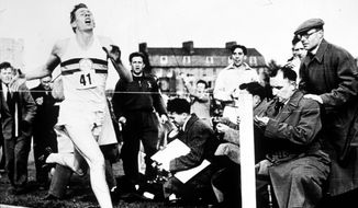 Getty Images In 1954, Roger Bannister became the first person to run a mile in less than four minutes.