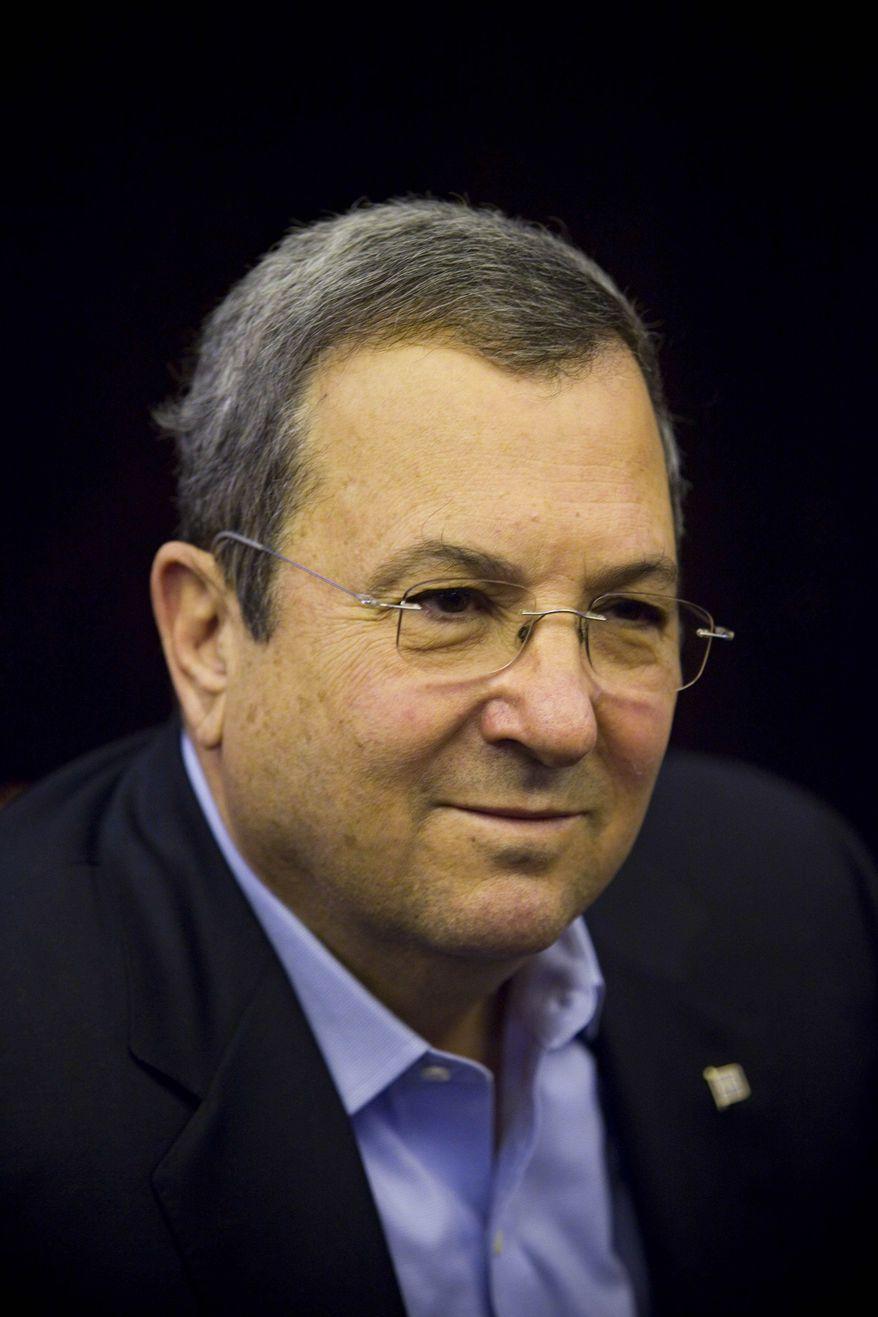 ** FILE ** Israeli Defense Minister Ehud Barak