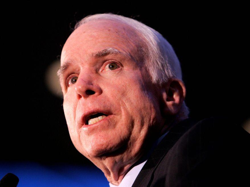 ** FILE ** Sen. John McCain, Arizona Republican