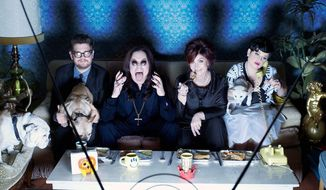 "The first in a series of variety specials, ""Osbournes: Reloaded"" premiered in 2009 and starred (from the left) Jack, Ozzy, Sharon and Kelly Osbourne."
