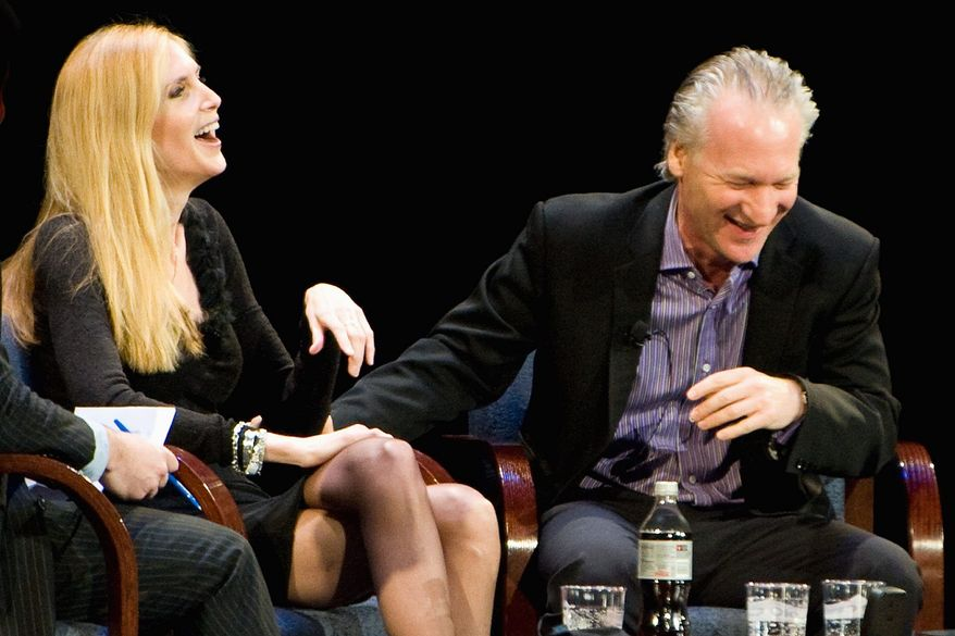 Associated Press Ann Coulter and Bill Maher