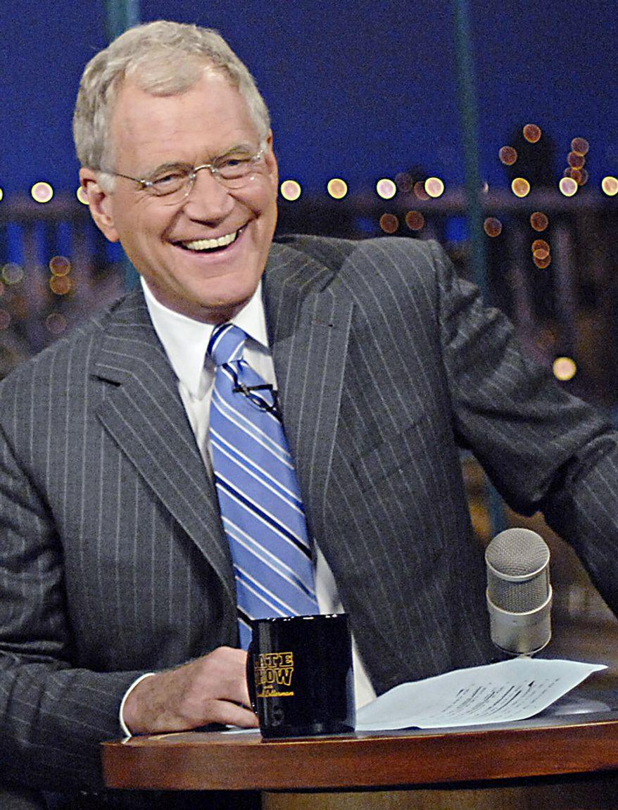 **FILE** David Letterman (Associated Press/CBS)